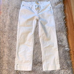 White House Black Market Noir Capri White Jeans 0